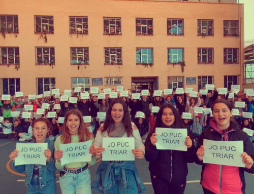 Els alumnes d'ESO també s'uneixen a la causa del 8M
